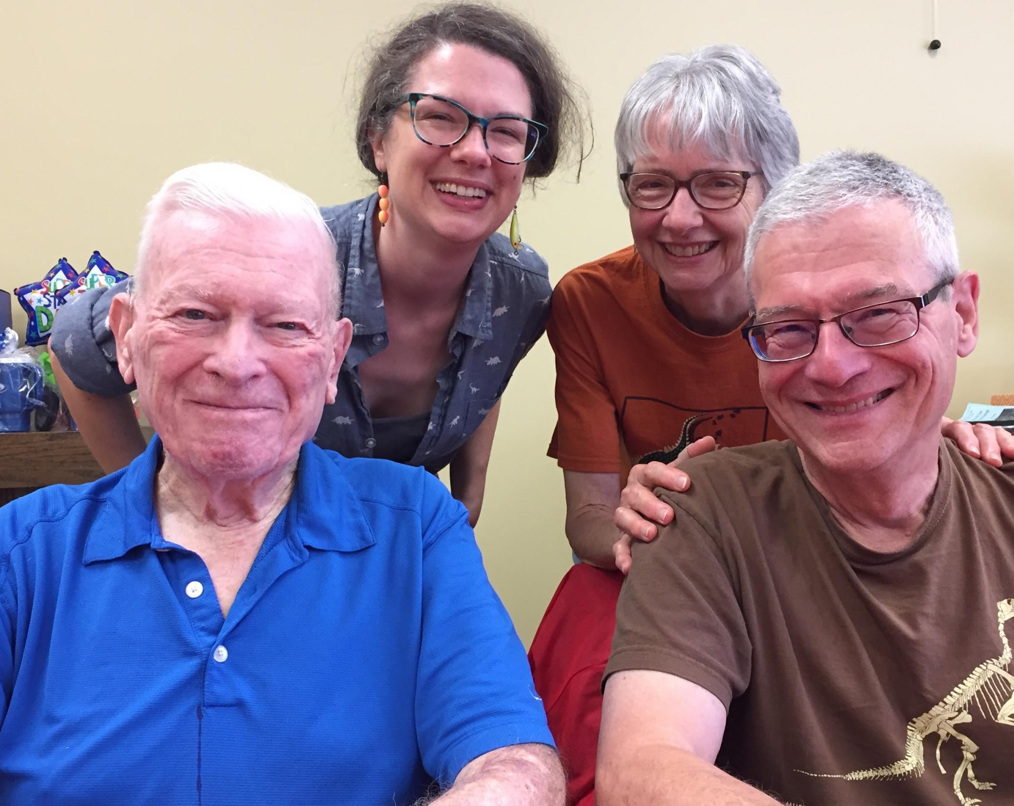 Nursing home residents and family members at Miller's in Garrett